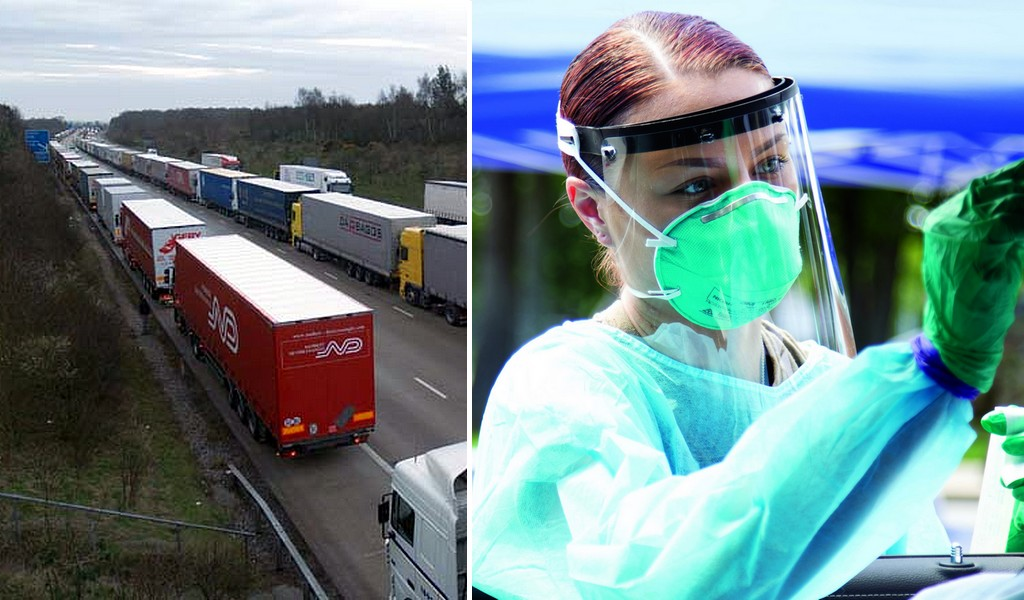 British Army to help with rapid coronavirus tests for lorry drivers entering France
