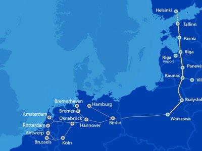 """""""Rail Baltica"""" projektui skirtas papildomas ES finansavimas – net 214,3 mln. Eur INEA dotacijų"""