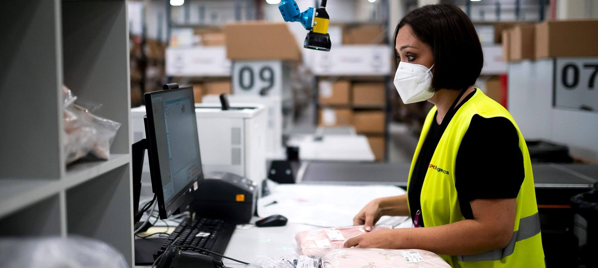 Fixed-mount barcode scanners to speed the reading of inventory