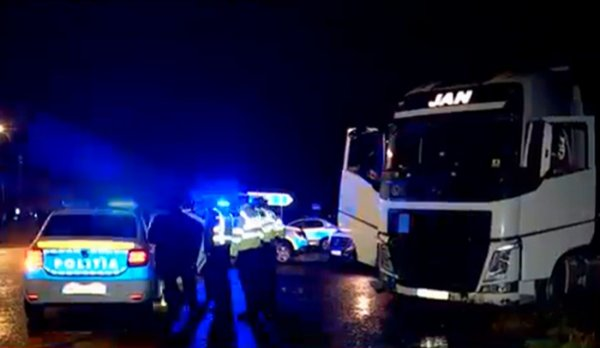Shots fired as Romanian police recover stolen truck from drink-driver