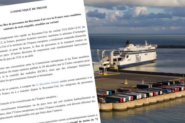 OFFICIAL: France opens UK border; negative coronavirus test required