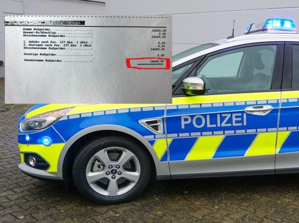Dyskusja z niemiecką policją źle się skończyła. Ponad 14 tys. euro mandatu dla kierowcy