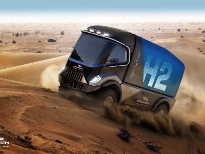 An der Rallye Dakar 2022 wird auch ein Wasserstoff-Lkw teilnehmen