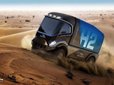 Ciężarówka na wodór wystartuje w rajdzie Dakar? To nie żart, Francuzi chcą tego dokonać już za rok