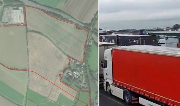Brexit lorry park delayed until 2022 as it awaits planning permission … from the government