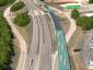 Hier wird Autobahn geplant, die nur von Lastwagen befahren werden dürfte