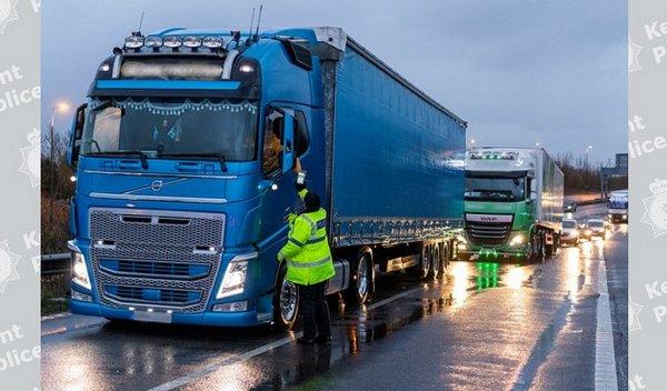 Änderungen für aus Großbritannien ausreisende LKW