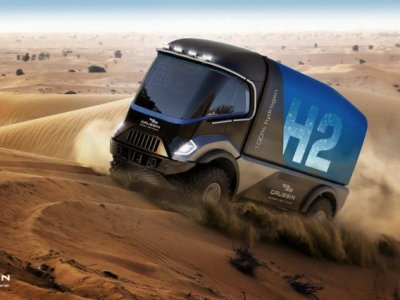 Hidrogén-cellás teherautó is indul a Dakar-ralin jövőre