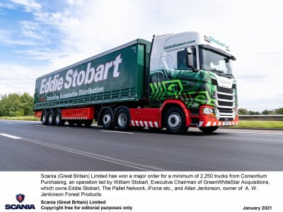 Eddie Stobart and partners place largest ever European order for Scania trucks