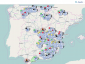 Schwierige Straßenverhältnisse in Spanien. Schneestürme haben viele Straßen blockiert