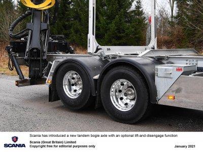 A Scania bemutatja az emelhető tandem tengelyt (videóval)