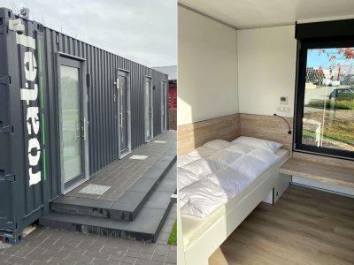 Nocleg w kontenerze zamiast w kabinie? Dwaj Niemcy chcą zbudować 600 mini-hoteli dla kierowców