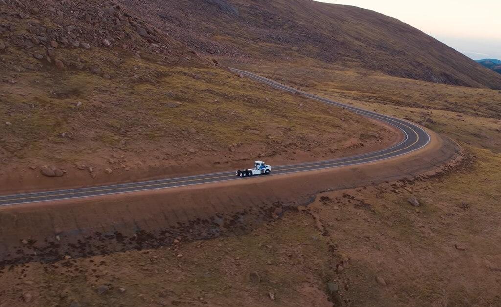 Video: see Peterbilt's new e-truck take on legendary Pikes Peak hillclimb