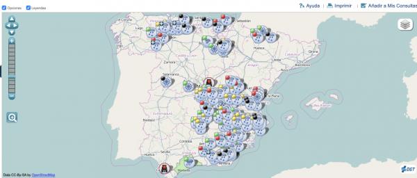 Сложные дорожные условия в Испании. Из-за снежных бурь было перекрыто много дорог