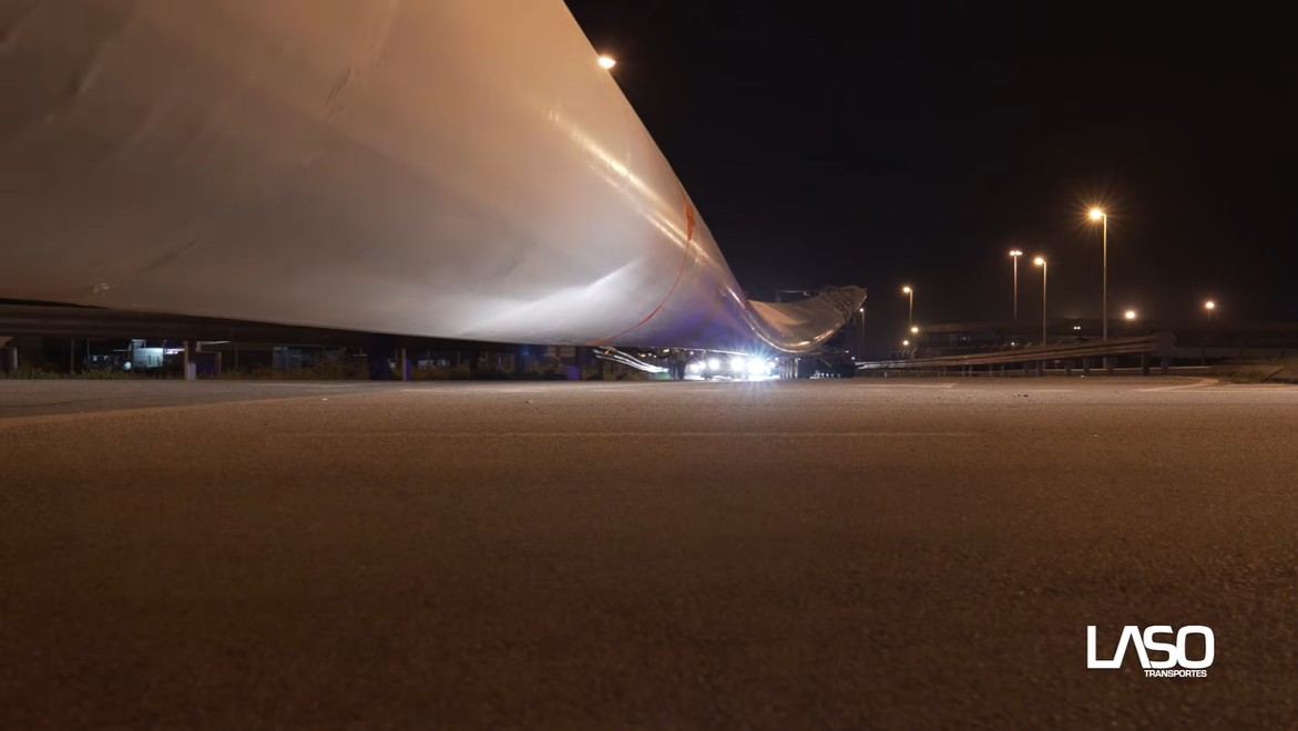 See how the largest wind turbine ever built in Iberia was transported