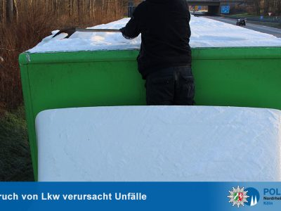 Niemiecka policja przestrzega: przewoźnik także może ponieść karę za nieodśnieżoną naczepę