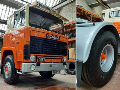 Northern Irish haulier's classic 1978 Scania kitted out with new tyres from Michelin