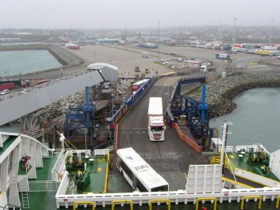 Quarter of Stena's dock workers at Holyhead Port put on furlough
