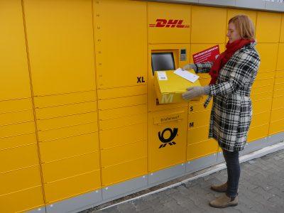 Neuentwickelte Poststation bietet wichtigste Post- und Paketservices rund um die Uhr