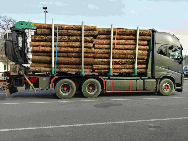 Przewóz drewna z problemami. Waga niemieckiej policji odmówiła posłuszeństwa