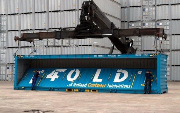 Vier oder sogar fünf statt einem – faltbare Container können Leerfahrten reduzieren