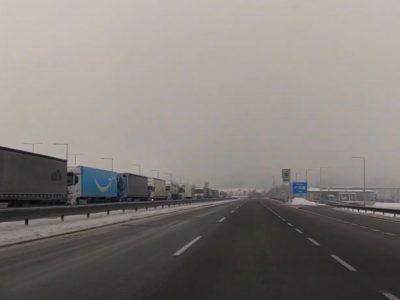 Így nézett ki a Prága-Drezda útvonal ma reggel (videó)