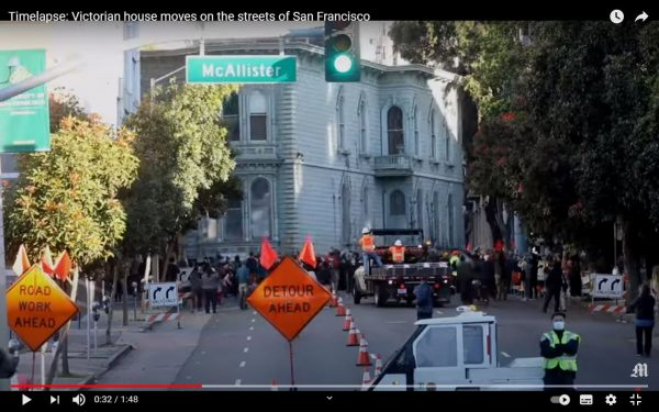 See a truck carry an entire 139-year-old house in San Francisco