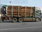 Verkehrskontrolle: Holztransporter war so überladen, dass die Waage abschaltete