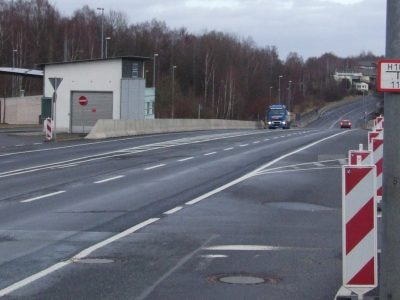 Covid test centre for lorry drivers opens at Czech/German border