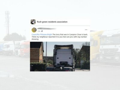 Petty HGV parking complaint sparks expletive-laden response from truck owner