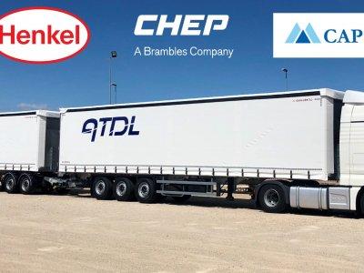 HENKEL und CAPSA FOOD reduzieren mit den Collaborative Transportation Solutions von CHEP Leerkilometer und CO2-Emissionen