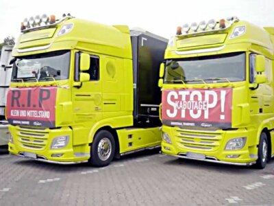 Vokietijos vežėjai rengia protestą prieš nesąžiningą Rytų Europos konkurenciją