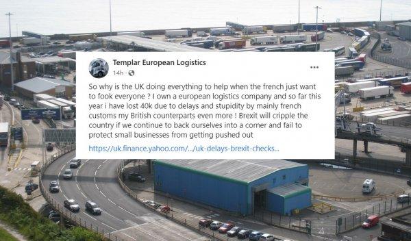 Englishman's haulage company loses £40,000 due to post-Brexit customs checks
