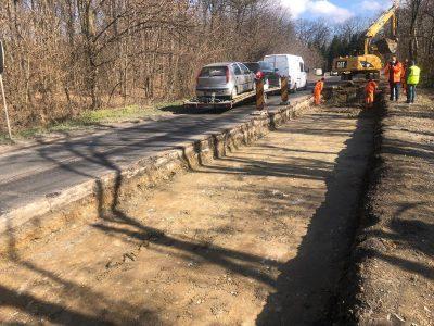 Au început lucrările la structura rutieră a DN 68A