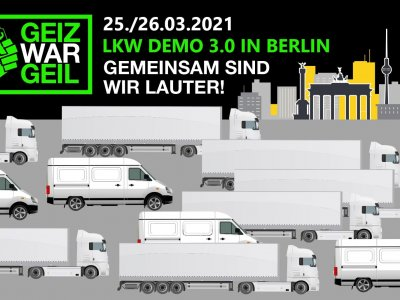 Dritte Lkw-Demo in Berlin: Bisherige Resonanz hält sich in Grenzen