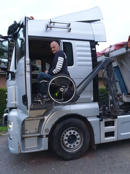 Check out the lorries MAN altered to accommodate disabled drivers