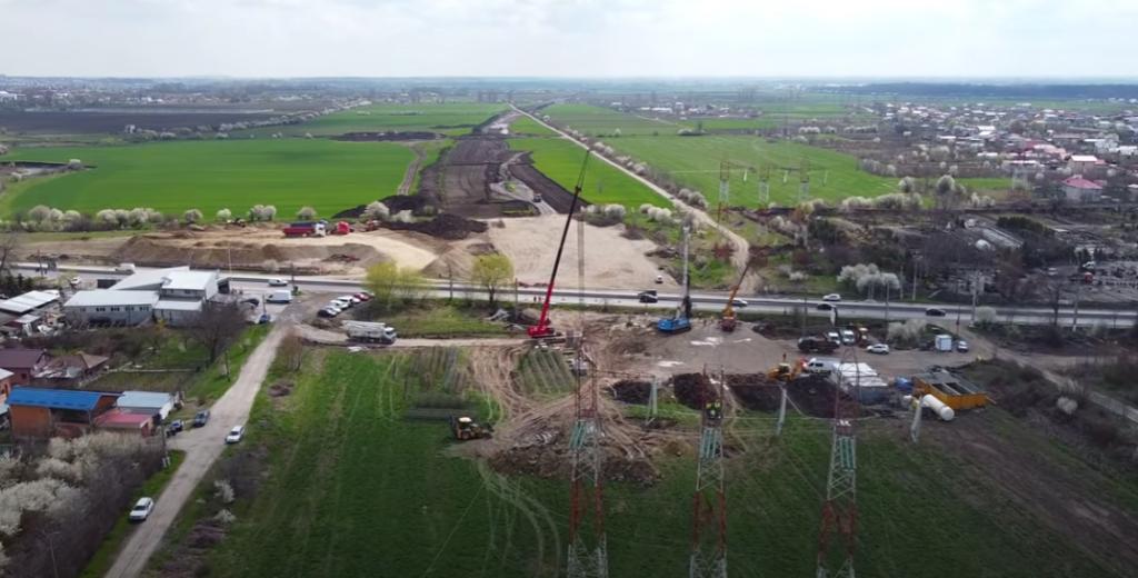 Infrastructură I Filmare pe șantierul autostrăzii de centură a Capitalei, A0