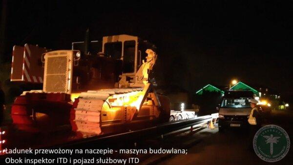 Pod osłoną nocy wiózł ładunek i przekroczył normy o ponad 100 proc.! Inspektorzy nie mieli litości
