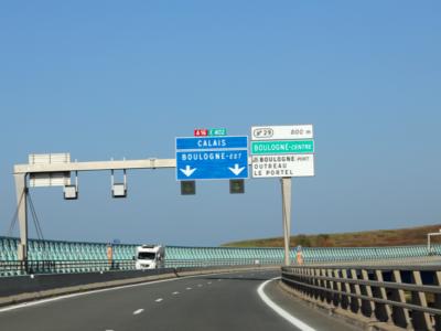 Затруднения движения на трассе возле Дюнкерка