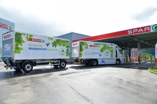 SPAR fährt neu mit grünem Wasserstoff