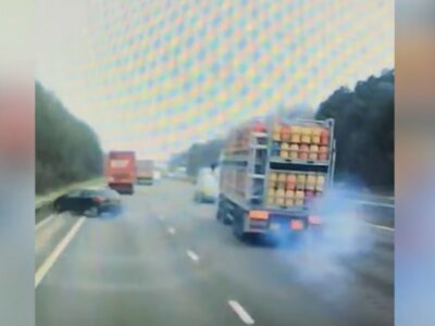 Police appeal for info as video shows trucker fleeing from accident