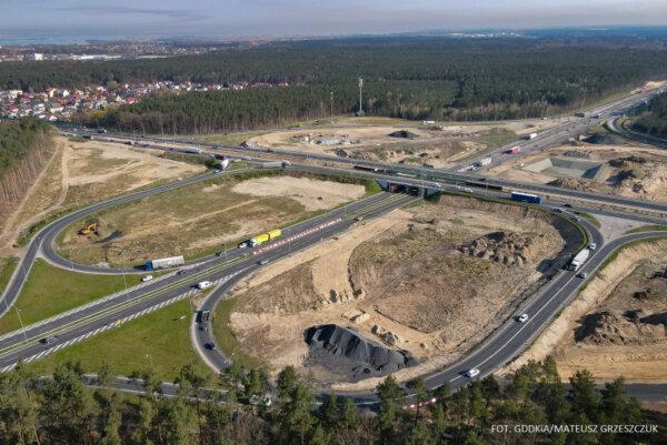 Nowa organizacja ruchu na węźle A6 koło Szczecina. Na jakie zmiany muszą przygotować się kierowcy?