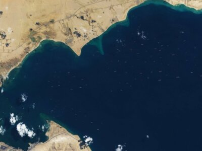 Resolving the ship backlog puzzle in the Suez Canal: predicting ship transits in capacity-constrained areas
