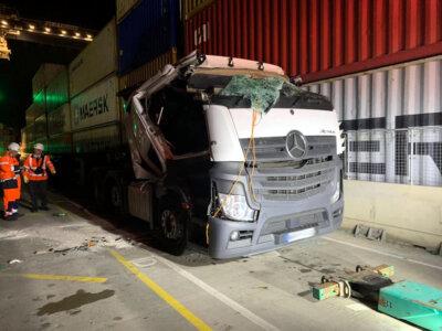 Litewski kierowca wykazał się niesamowitym refleksem. Uratował innego truckera przed zmiażdżeniem
