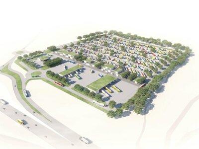 Európa legnagyobb őrzött teherautó parkolóját építik Dániában