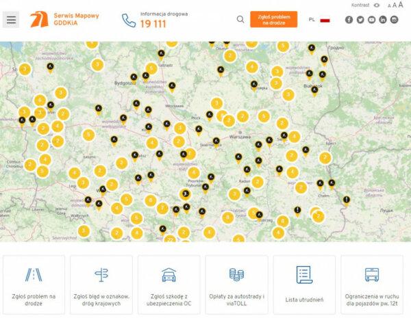Создан новый сайт для водителей, ездящих по Польше. Он содержит полезные инструменты для перевозчико