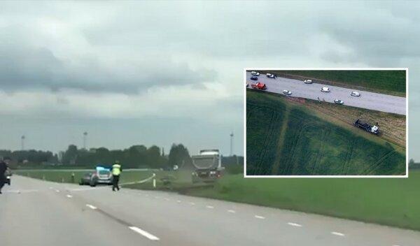 """Akcja jak z filmu """"Speed"""". Kierowca ciężarówki przekonywał, że nie może się zatrzymać, a zbliżał się"""
