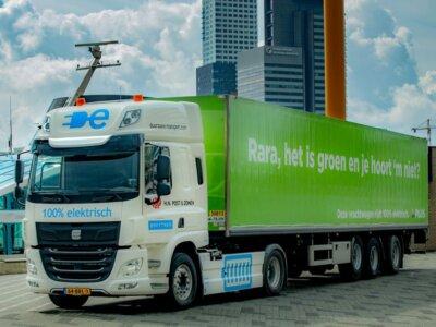 Przełom w Niderlandach. 50-tonowy zestaw z całkowicie elektrycznym napędem