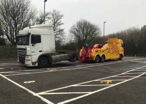 DVSA in Gloucestershire impounds foreign truck over cabotage offences