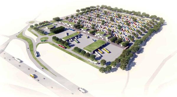 Europas größter Lkw-Parkplatz wird in Dänemark gebaut